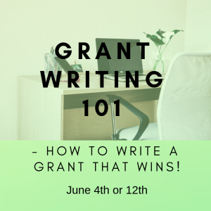 Grant Writing 101 June Website