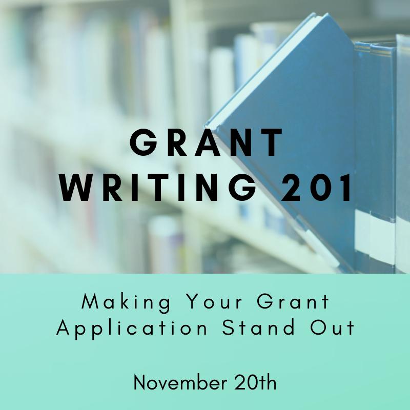 Grant Writing 201 - November 20th