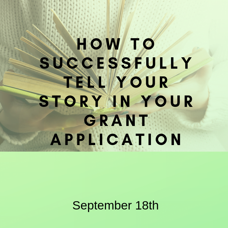 Successfully tell your story - Sept 18th