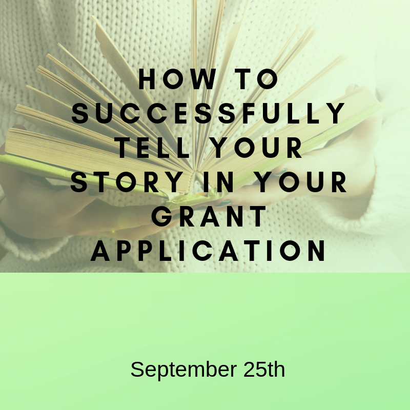 Successfully tell your story - Sept 25th
