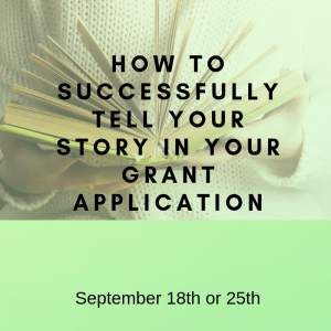 Successfully tell your story - Sept