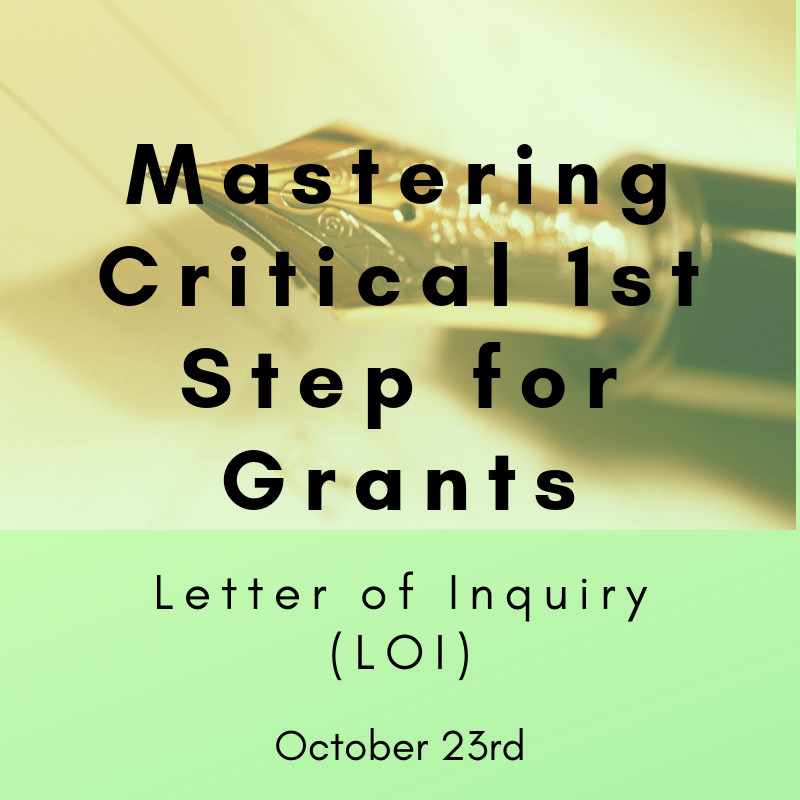 Mastering Critical 1st Step for Grants - October 23rd