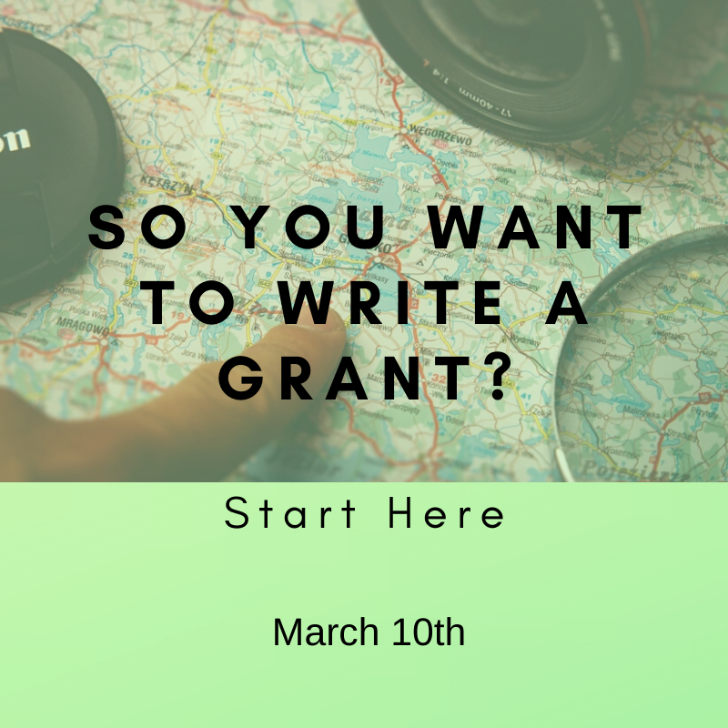 Free Webinar So you want to write a grant_ - March
