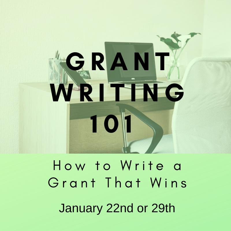 Grant Writing 101 - January