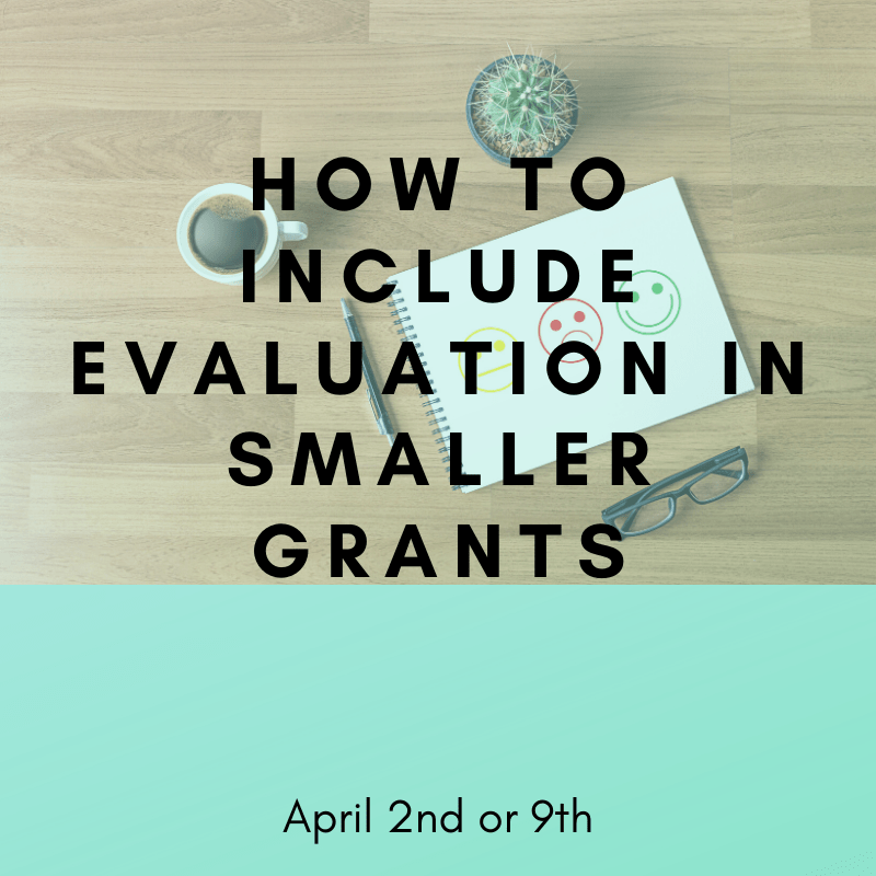How To Include Eval in Smaller Grants - April