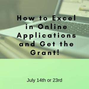 How to Excel in Online Applications and Get the Grant July