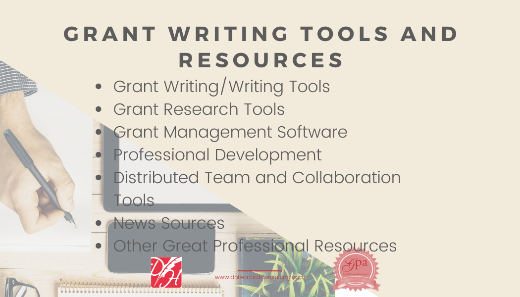 Grant Writing Tools and Resources Website image