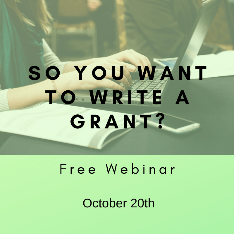 So you want to write a grant
