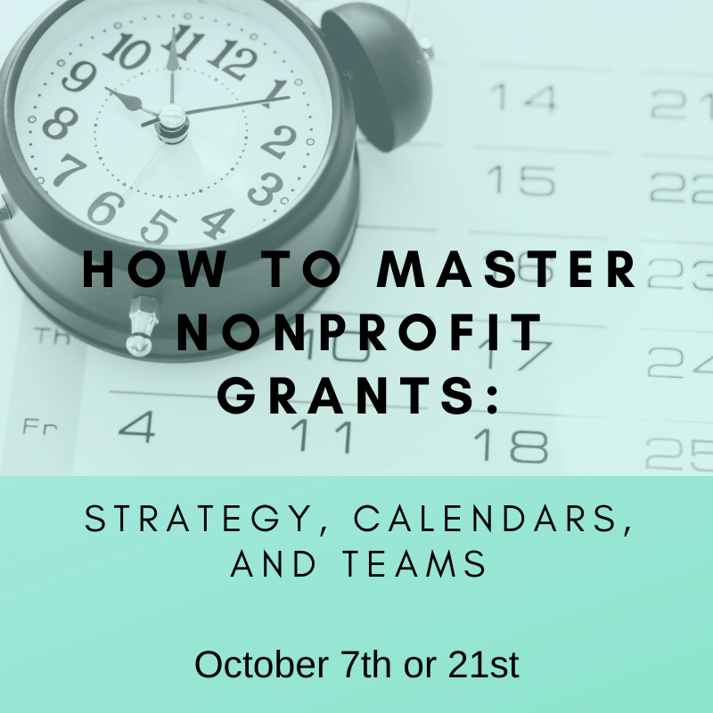 How to Master Nonprofit Grants -October