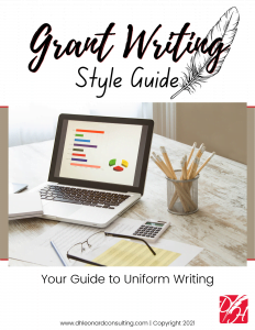 Grant Writing Style Guide - Cover Option 1